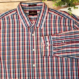 Rodd & Gunn Blue Red Plaid Sport Fit Shirt SZ XL